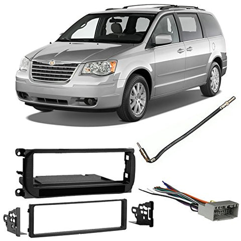 Compatible With Chrysler Town & Country 2002-2007 Single Din Harness Radio Dash Kit