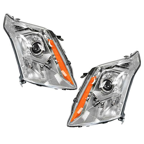 Halogen Headlights Headlamps Left &Amp; Right Pair Set For 10-13 Cadillac Srx
