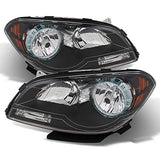 Xtune For 2008-2012 Malibu Black Housing Headlights Headlamps Direct Fit Lh+Rh Set Pair Left+Right/2009 2010 2011