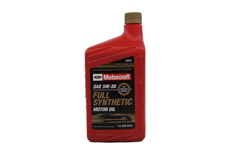 Ford Genuine Fluid Xo-5W30-Qfs Sae 5W-30 Full Synthetic Motor Oil - 1 Quart Bottle - (12)