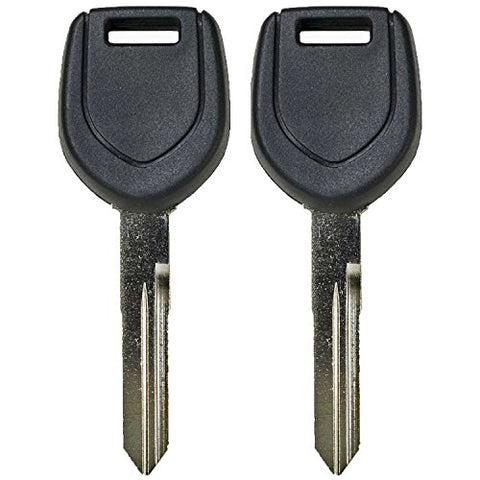 Qualitykeylessplus Two Replacement Transponder Chip Keys Mit13Pt For Mitsubishi Vehicles With Free Keytag