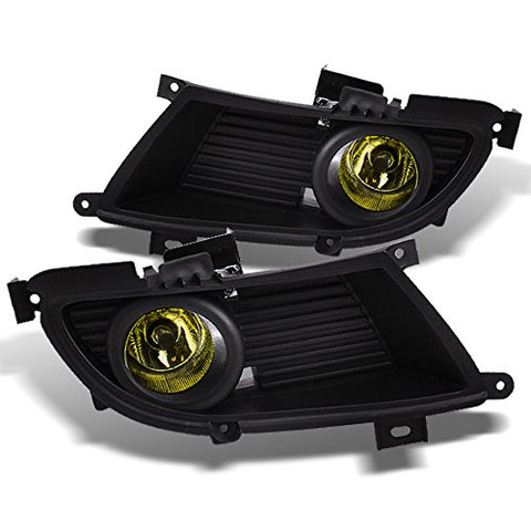 For Mitsubishi Lancer Bumper Yellow Driving Fog Lights Driver/Passenger Lamps W/Switch/Bulbs/Bezel