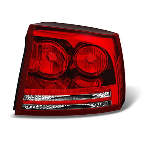 For Dodge Charger Red Clear Rear Tail Light Tail Lamp Brake Lamp Passenger Right Side Replacement