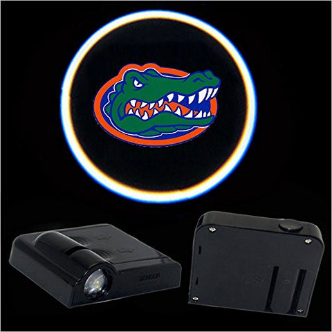 2Pcs Universal Wireless Car Projection Led Projector Door Shadow Light Welcome Light Laser Emblem Logo Lamps Kit For Florida Gators