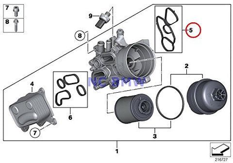 Bmw Mini Genuine Gasket Set - Oil Filter Housing To Block Coop.S Jcw Cooper S Coop.S Jcw Cooper S Coop.Sx Jcw Cooper S Cooper Sx C