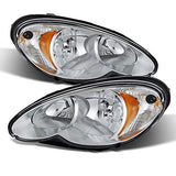 For 06-10 Pt Cruiser Chrome Housing Replacement Headlights Headlamps Lh+Rh Set Pair Left+Right