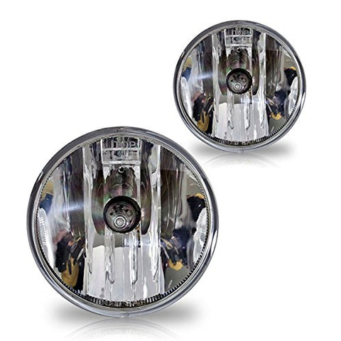 Winjet Wj30-0207-09 Oem Series For Suburban Avalanche Tahoe Camaro Yukon Acadia Mustang Escape G6 G8 Clear Lens Driving Fog Lights
