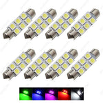 Sawe - 1.72  42Mm 6-Smd 5050 Festoon Led Bulbs For Dome Map Light 211-2 578 (8 Pieces) (Red)