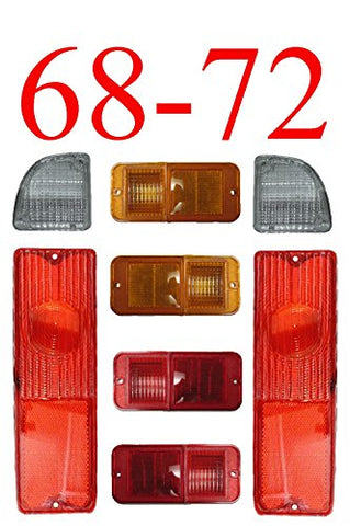 68-72 Chevy 8Pc Tail Light Kit W/ Standard Side Lights