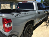 Bdtrims | Truck Bed Trd Plastic Letters Inserts Fits 2014-2019 Tundra Models - Both Sides (Glossy Black)