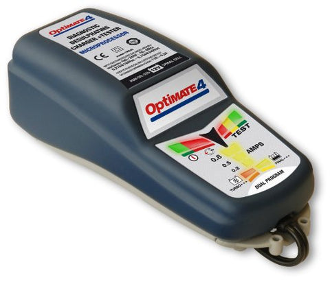 Tecmate Optimate 4 Can-Bus Edition, Tm-245 8/9-Step 12V 0.8A Battery Saving Charger-Tester-Maintainer