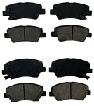Prime Choice Auto Parts Scd1543-1544 Front And Rear Set Of Ceramic Brake Pads
