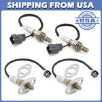 Kwiksen 4Pcs Upstream And Downstream Oxygen Sensor 234-4162 234-4169 O2 Sensor 1 And Sensor 2 Replacement For 2001 2002 2003 2004 Toyota Sequoia 4.7L 4Wd Only