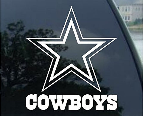 Crawford Graphix Dallas Cowboys 8  Die Cut Decal