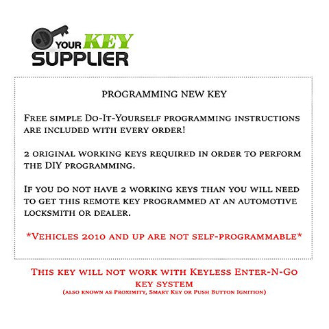 Bestkeys 812Tc-Rk-Chy-Fbk-7 Remote Start