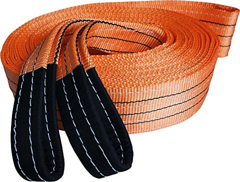 Heavy Duty Recovery Strap | For Off-Road Recovery And Towing | By Titan Auto (3.5  X 30' 35K Lbs, Orange &Amp; Black)