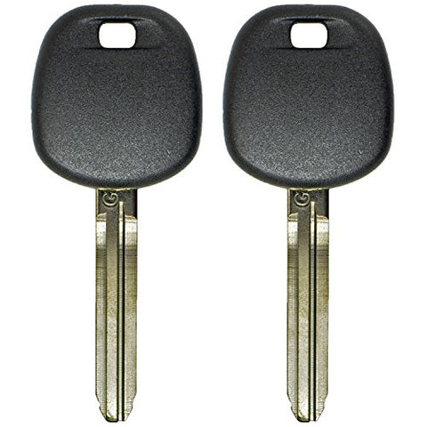 Qualitykeylessplustwo Replacement Transponder Chip Keys Toy44Gpt For Toyota Vehicles With Free Keytag