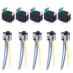 Esupport 12V 30A Car Motor Heavy Duty Relay Socket Plug 4Pin Fuse On/Off Spst Wire Metal