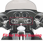 Motomoto Chrome Stereo Accent Trim Ring For Harley Davidson Street Electra Glide Ultra Classic Touring 1986-2013