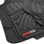 Motor Trend Flextough Standard - 4Pc Set Heavy Duty Rubber Floor Mats For Car Suv Van &Amp; Truck (Black) (Mt-774-Bk_Amjan)
