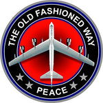 215 Prosticker (One) 4  Patriot Series  The Old Fashion Way, Peace  B-52 Bomber Plane Decal Sticker