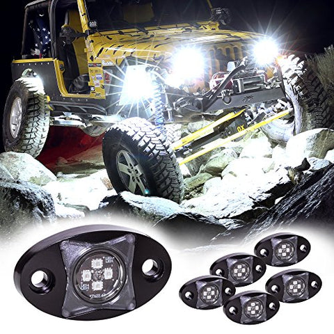 Lamphus 6Pc Stardust Sdrl14 4X4 4Wd Jeep Truck Offroad Led Rock Light Kit - Cold White