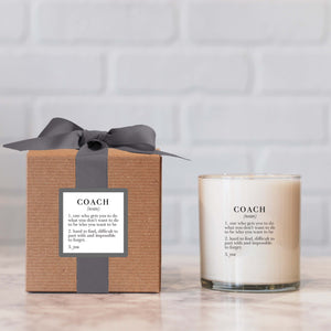 """Coach"" Candle - not available for local pick up"
