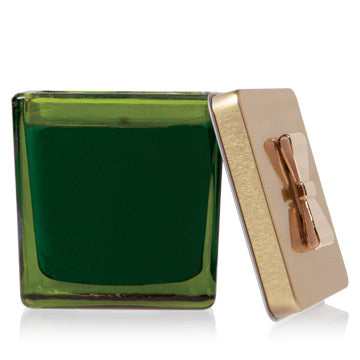 Frasier Fir Novelty Green Glass Gift Box Poured Candle
