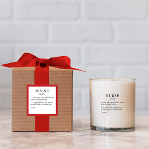 """Nurse"" Candle - Not available for local pick up"