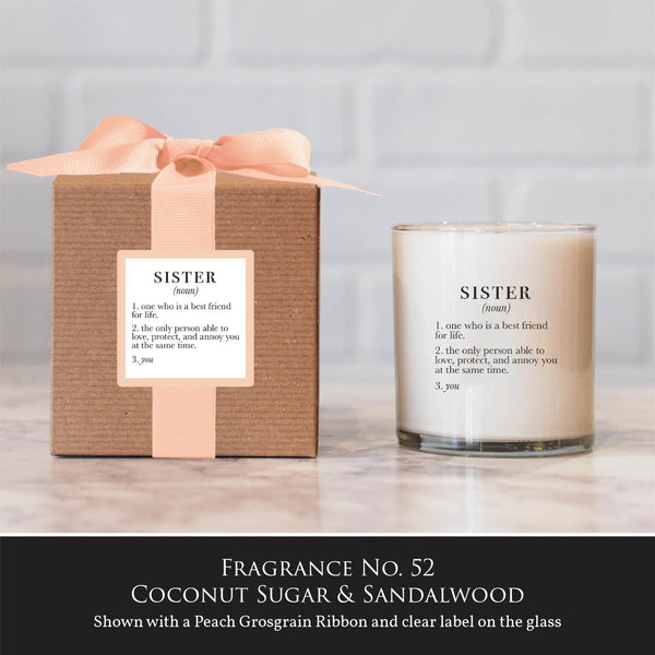 """Sister"" Candle - Not available for local pick up"