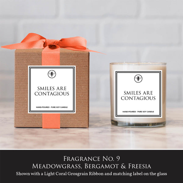 """Smiles are Contagious"" Candle"