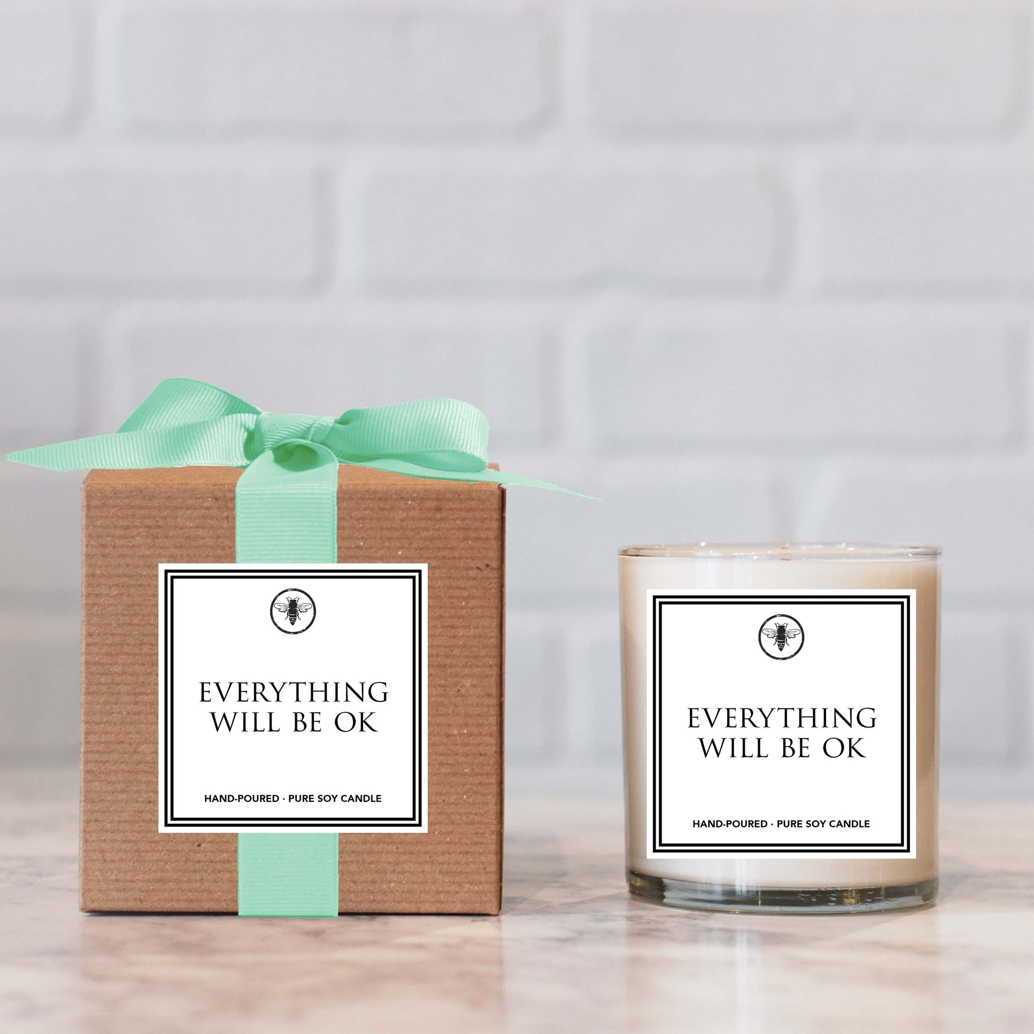 """Everything Will Be Ok"" Candle"
