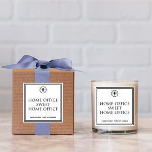 """Home Office"" Candle - not available for local pick up"