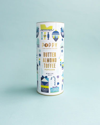 Butter Almond Toffee Holiday Cylinder