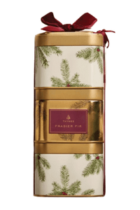 Frasier Fir Stacking Present Candle Tins Trio