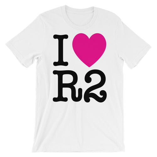 I Heart R2 Breast Cancer Awareness Tee