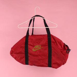 Nike red duffel bag