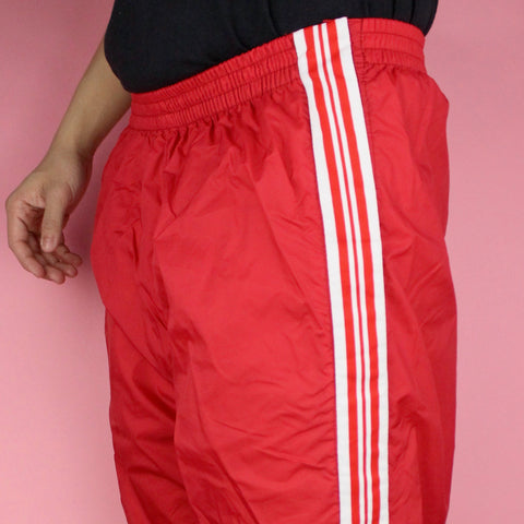 90s Red Breakaway Track Pants