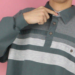 Vintage 90s Stripe Polo Sweater