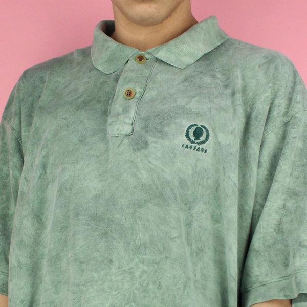 90s Caesars Oversized Marbled Polo Shirt