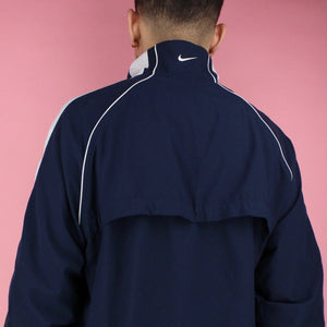 Y2K Nike Navy Blue Zip-up Windbreaker