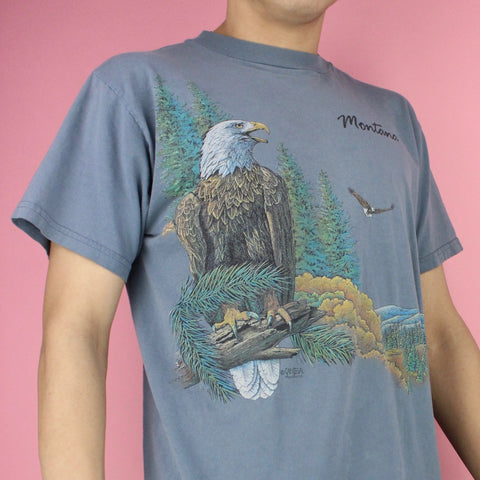 Vintage 90s Montana Eagles Soaring Graphic T-shirt
