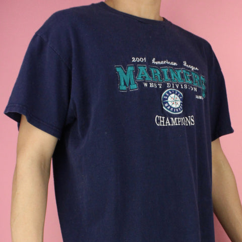 2001 Seattle Mariners Champions T-shirt