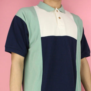 Vintage 90s Northwest Outfitters Color-block Polo Shirt