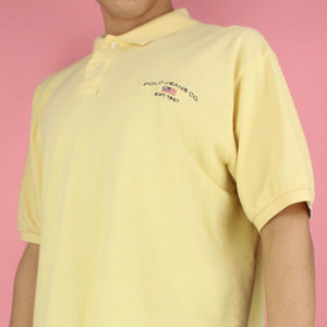 1990s Polo Sport Ralph Lauren Yellow Polo Shirt