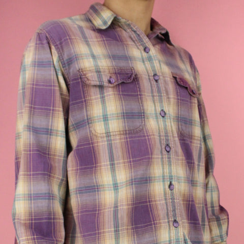 Vintage 90s Faded Glory Button-up Flannel Shirt