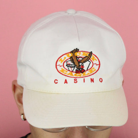 Vintage 80s Lucky Eagle Casino Hat