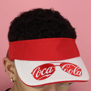 Coca-Cola Sunglass Visor Hat Made from Recycled Coke Bottles
