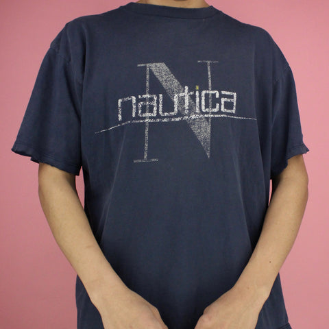 90s Nautica Distressed Shirt