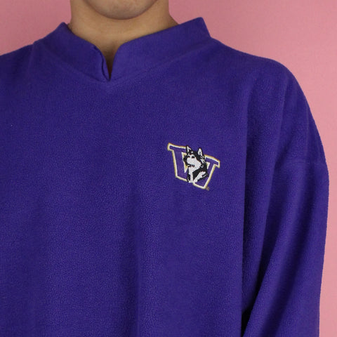 90s Washington Huskies Fleece Sweater